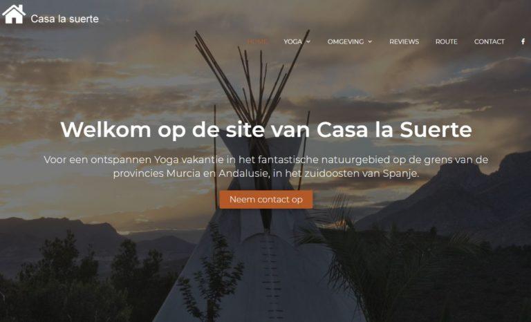 casa la suerte yoga vakanties vgwdesign webdesign