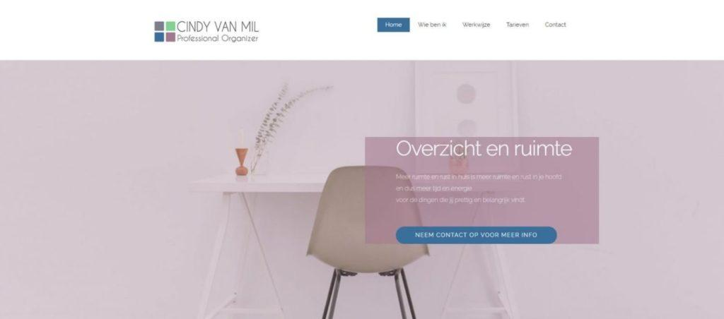 cindy van mil professional organizer vgwdesign webdesign