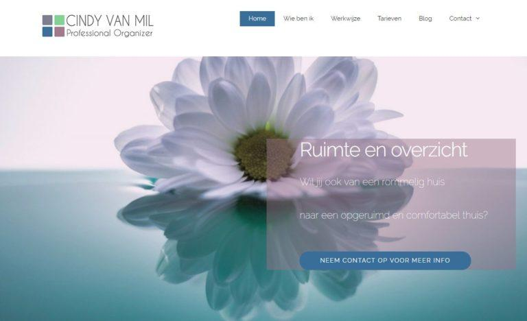cindy van mil website door vgwdesign