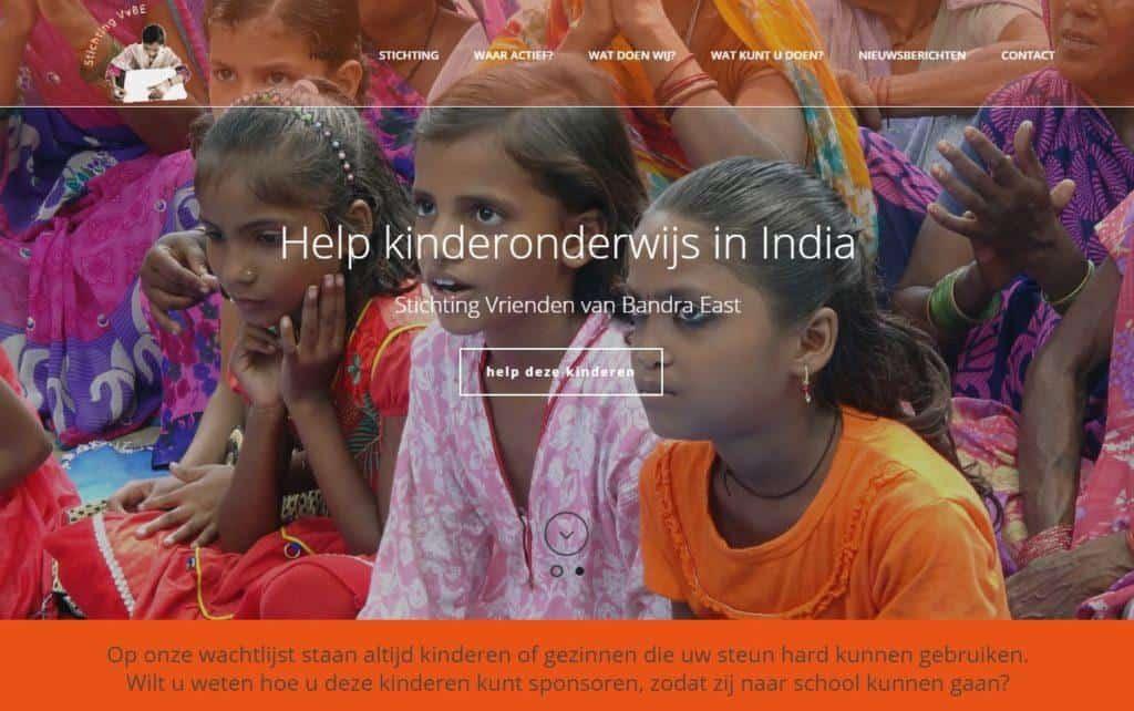 vrienden van bandra east hulp aan inia door vgwdesign webdesign