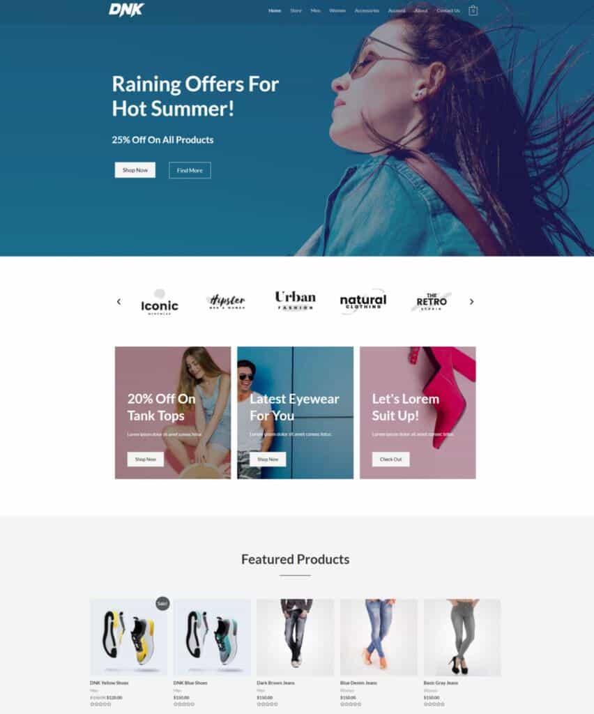 webshop demo website 3